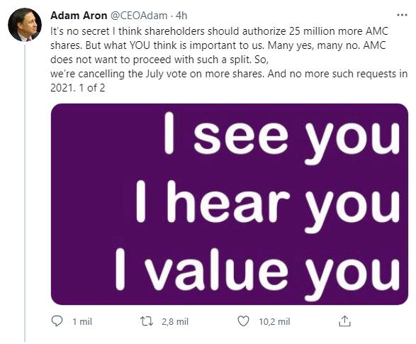 AMC Adam Aron Twitter